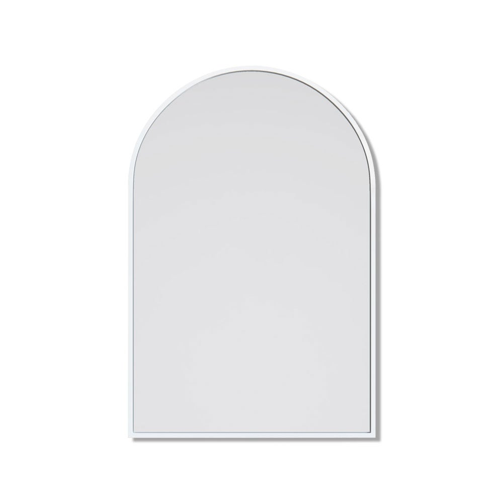 Arch Metal Framed Bathroom Mirror White - 76cm x 50cm