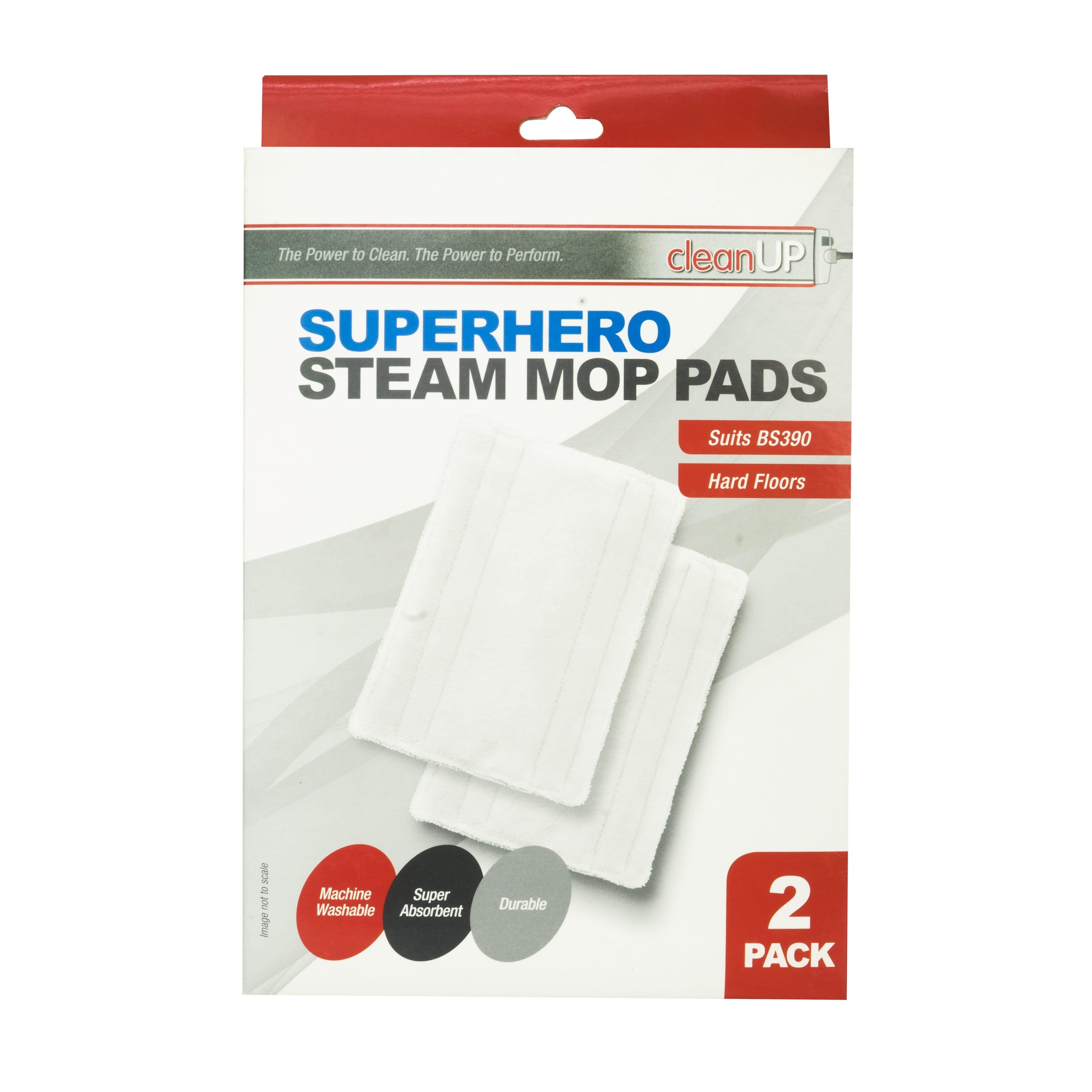 Clean Up Superhero Steam Mop Pads 2pk Washable Reusable
