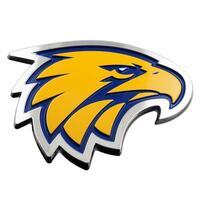 West Coast Eagles AFL 3D Chrome Emblem Badge - For Cars, Bikes, Laptops, Most Things