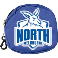 North Melbourne Kangaroos AFL Foldaway Shopping Grocery Tote Carry Bag Pouch Key Chain