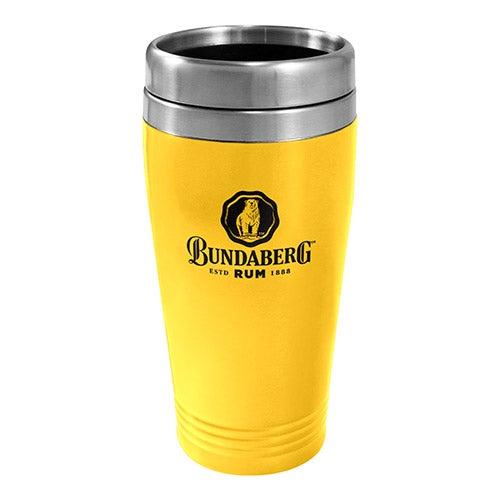 Bundy Bundaberg Rum Yellow Stainless Steel Travel Coffee Mug Cup