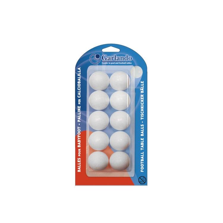 GARLANDO Soccer Foosball Table Balls 10 Pack White