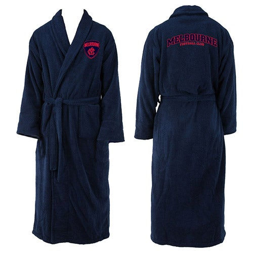 Melbourne Demons AFL Adult Polyester Dressing Gown Bath Robe