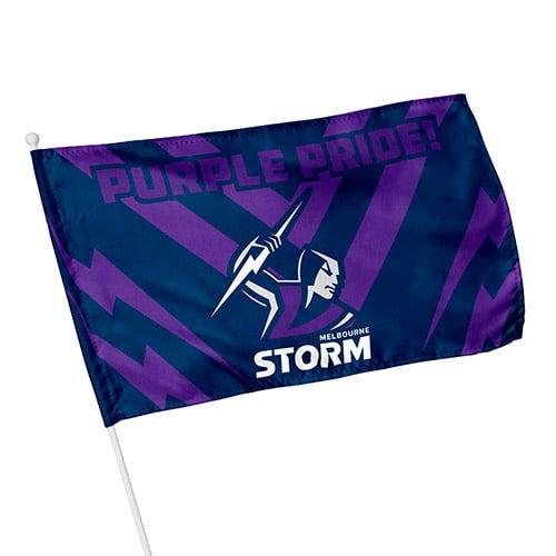 Melbourne Storm Licensed NRL KIDS Pole Game Day Flag Banne6