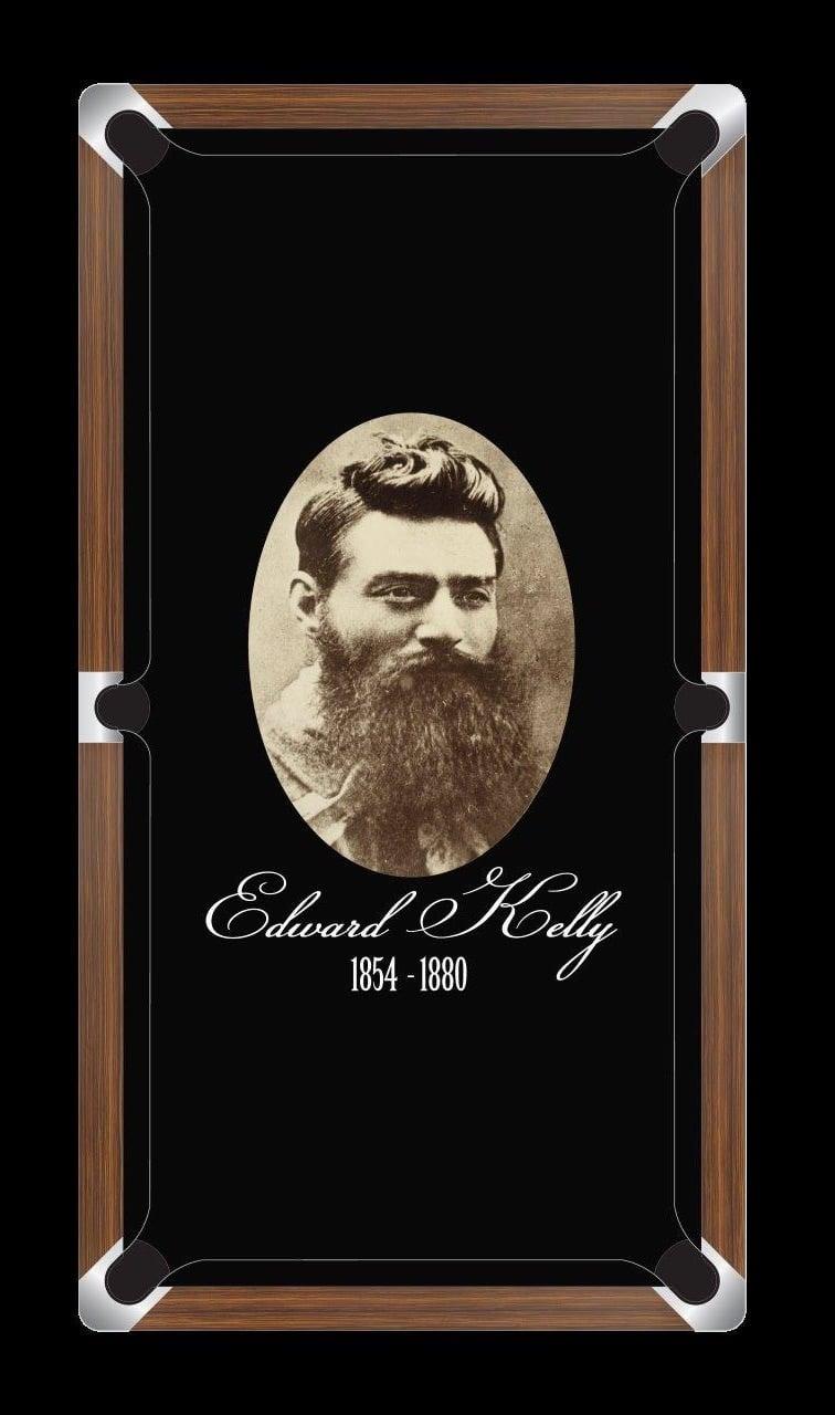 NED KELLY - PORTRAIT Custom Made Printed Pool Snooker Billiard Table Felt Cloth