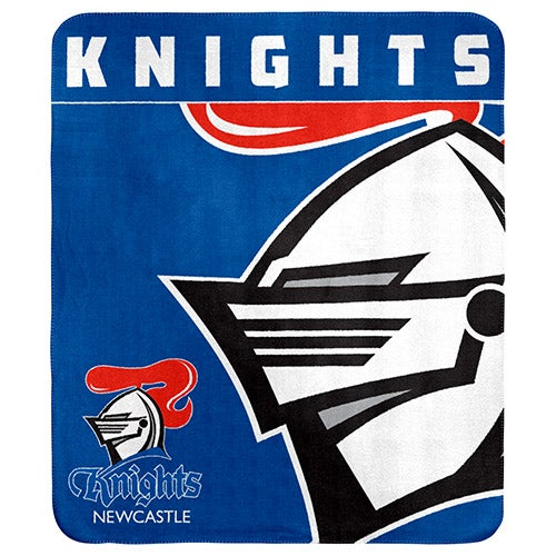 Newcastle Knights NRL Polar Fleece Rug Blanket