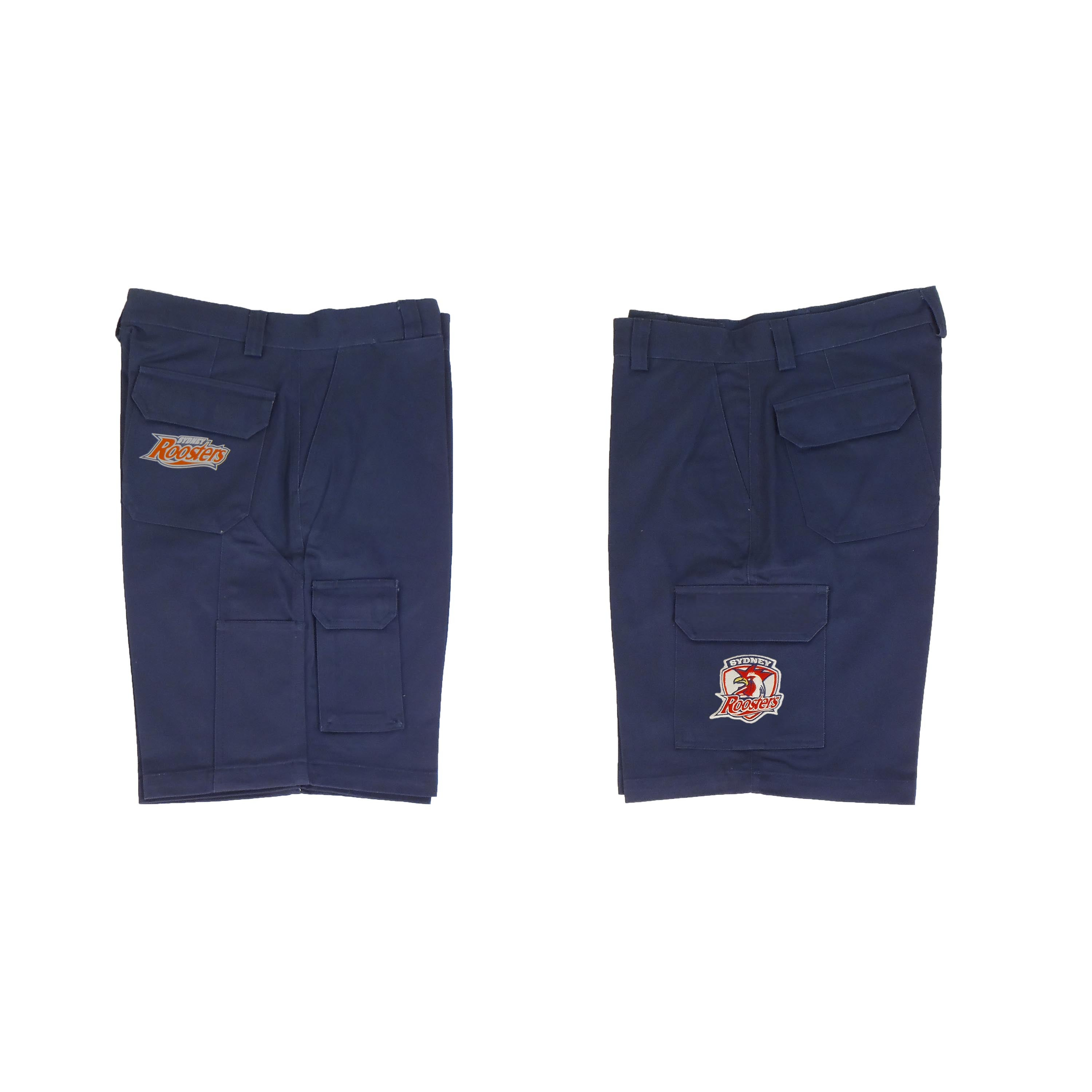 Sydney Roosters NRL Cargo Work Shorts Navy