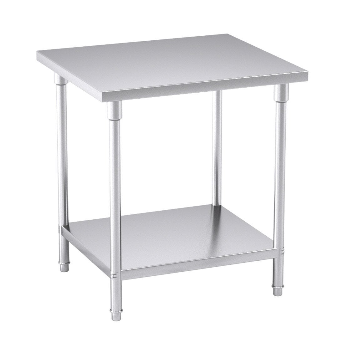 SOGA 2-Tier Commercial Catering Kitchen Stainless Steel Prep Work Bench Table 80*70*85cm