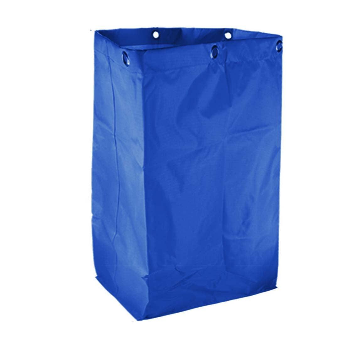 SOGA Oxford Waterproof Reusable Janitor Housekeeping Cart Replacement Bag Blue