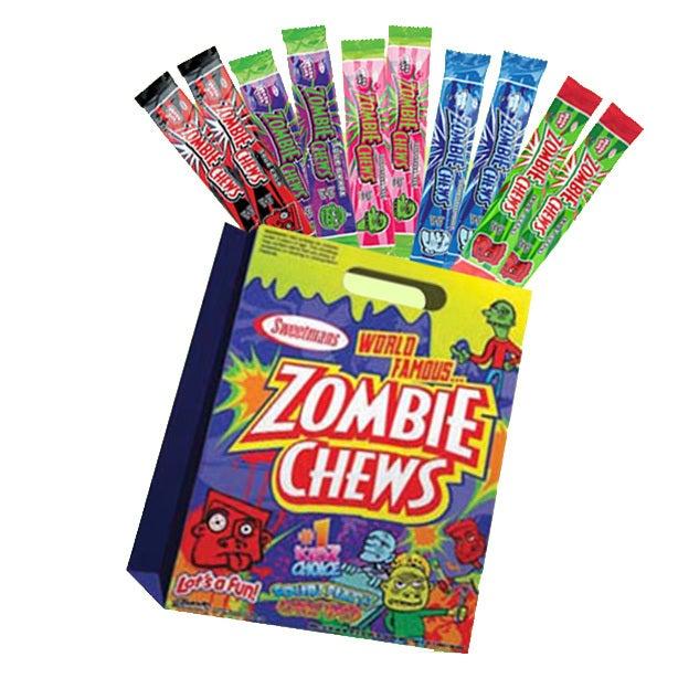 10pc Zombie Chews Kids Showbag w/Apple/Raspberry/Strawberry/Grape/Cola Chew Bars