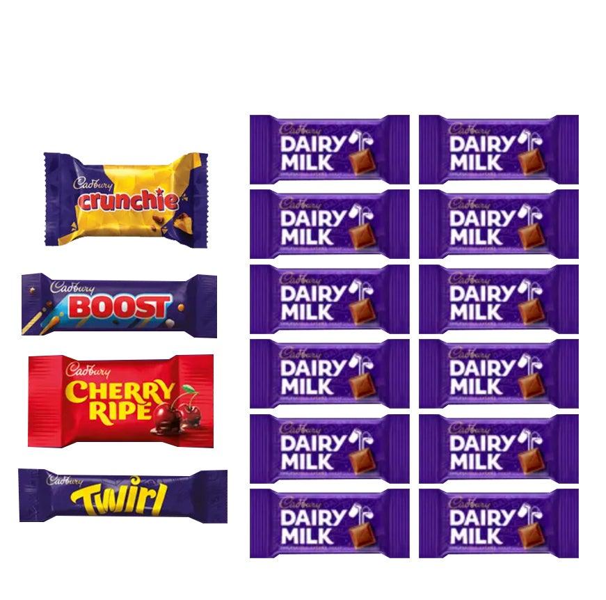 16pc Cadbury Dairy Milk Showbag Cherry/Crunchie/Twirl Chocolates/Playing Cards