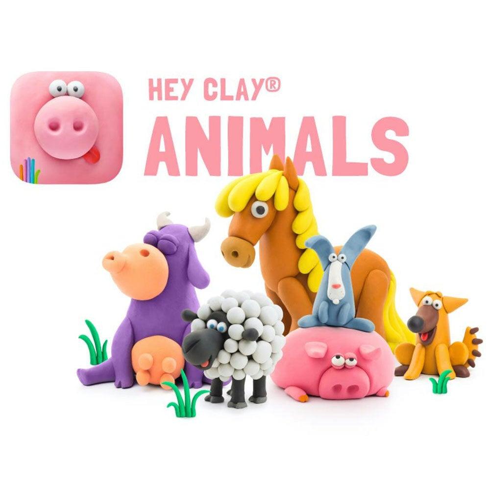 18pc Hey Clay Animals Air Dry Clay DIY Modelling Art Kids Educational Toy 3y+
