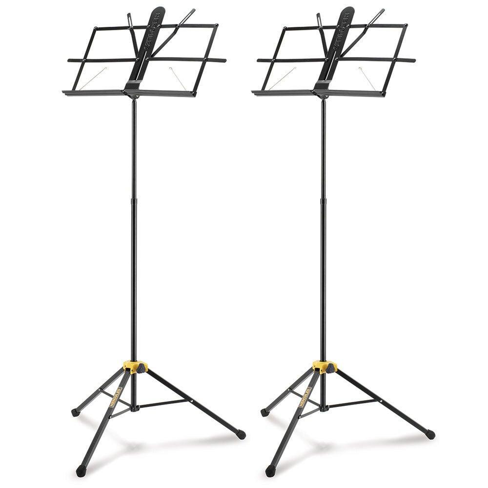 2PK Hercules 2 Section EZ-Glide Foldable Tripod Stand/Holder for Music Sheet BLK