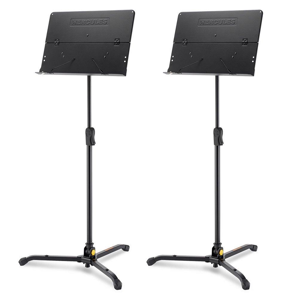 Hercules Tripod Orquestra Stand/Holder w/ Foldable Desk f/ Stage Music Sheet BLK