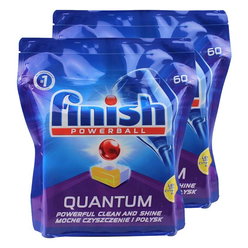 2x 60PK Finish Powerball Quantum Dishwashing Tablets f/ Dishwasher Lemon Sparkle