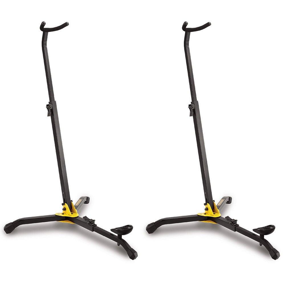 2x Hercules Folding Musical Instrument FloorStand/Holder for Clarinet/Bassoon BK