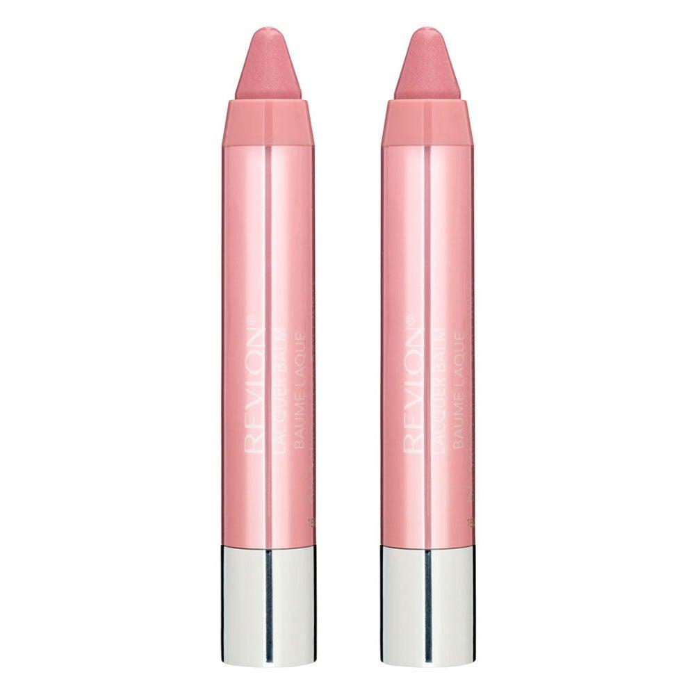 2x Revlon 2.7g Lip Lacquer Crayon Colour/Moisturising Balm Coconut Butter Demure