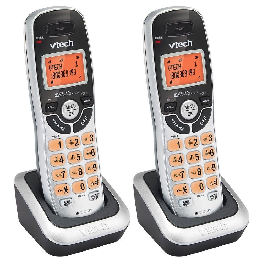 2x VTech 20050E DECT Cordless Phone Home Telephone Handset w/ Speakerphone Black