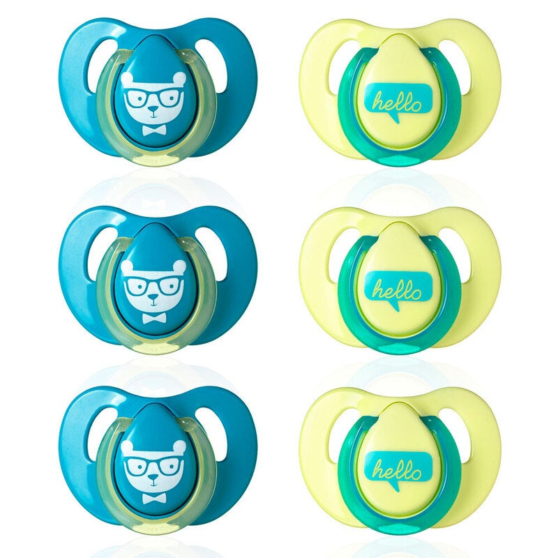 6pc Tommee Tippee Cherry Decorated Latex Soothers/Pacifiers/Dummy 6-18m Newborn