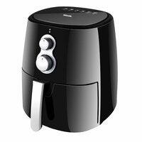 Heller 1350W 4L Air Fryer Healthy Low Fat Oil Free Kitchen Cooker w/ Recipe BLK