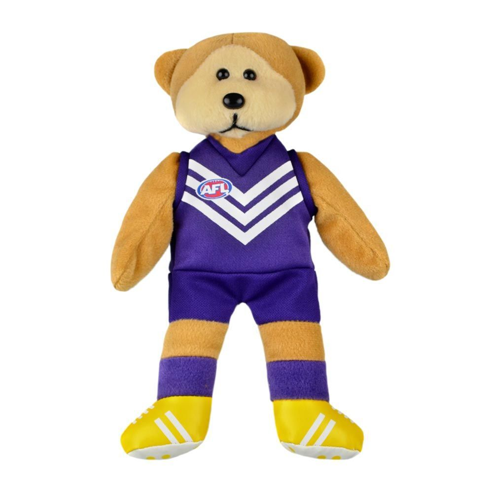 AFL Magic Play Fremantle Kids 30cm Footy Team Soft Collectable Bear Toy 3y+