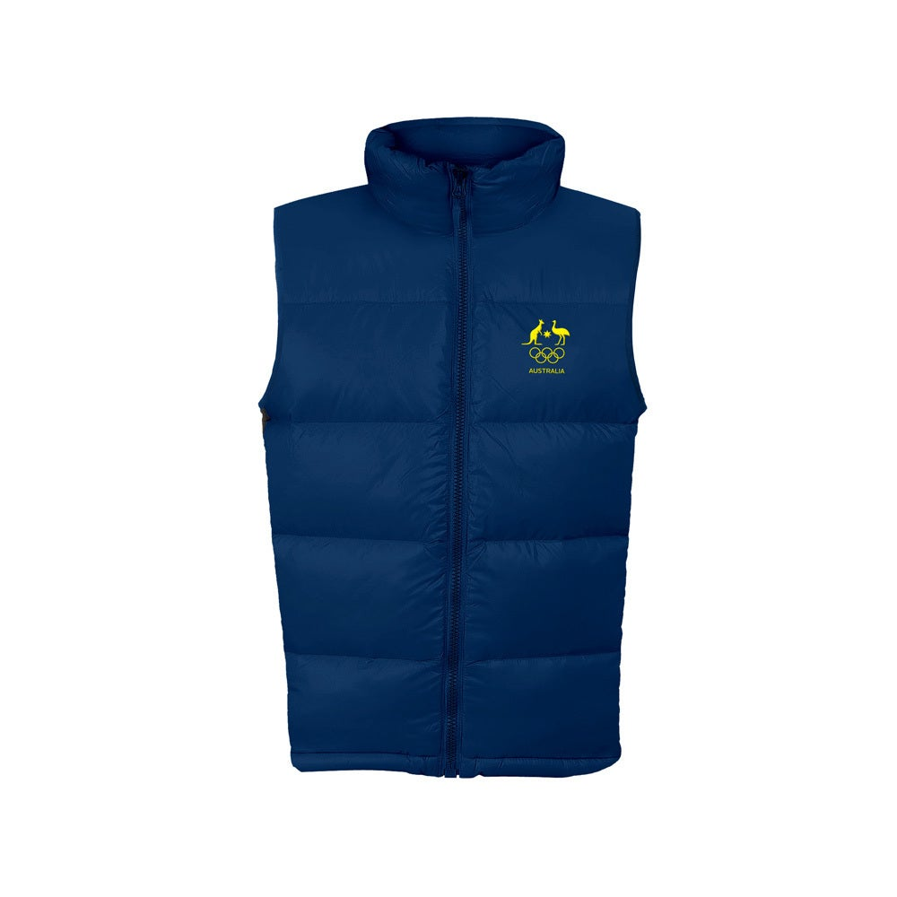 AOC Australian Olympic Adults 2XL Supporter Padded/Puffer Vest/Top Sport NVY