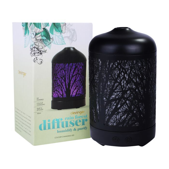 Clevinger LED Light Ultrasonic Rain Forest Aroma Electric Diffuser Humidifier