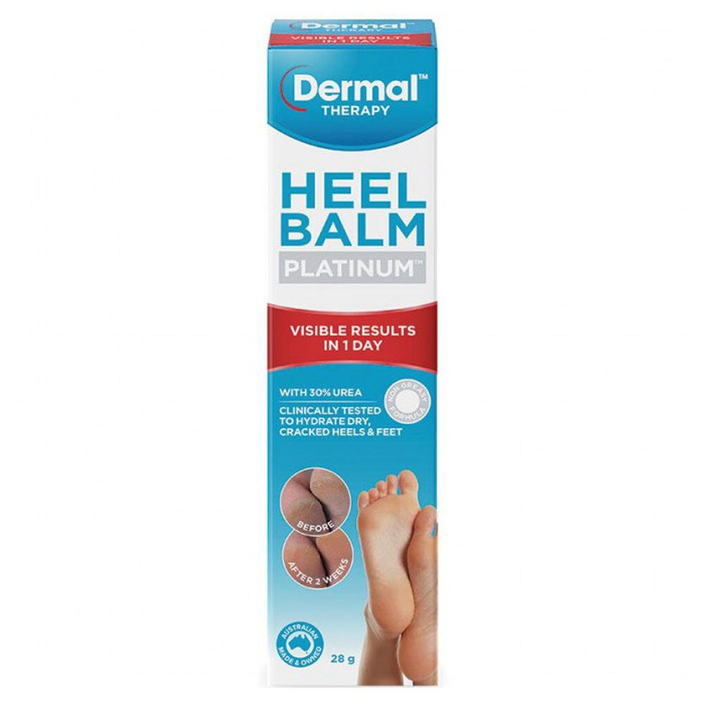 Dermal Therapy 28g Platinum Heel Balm Hydrate Treatment for Foot/Cracked Soles