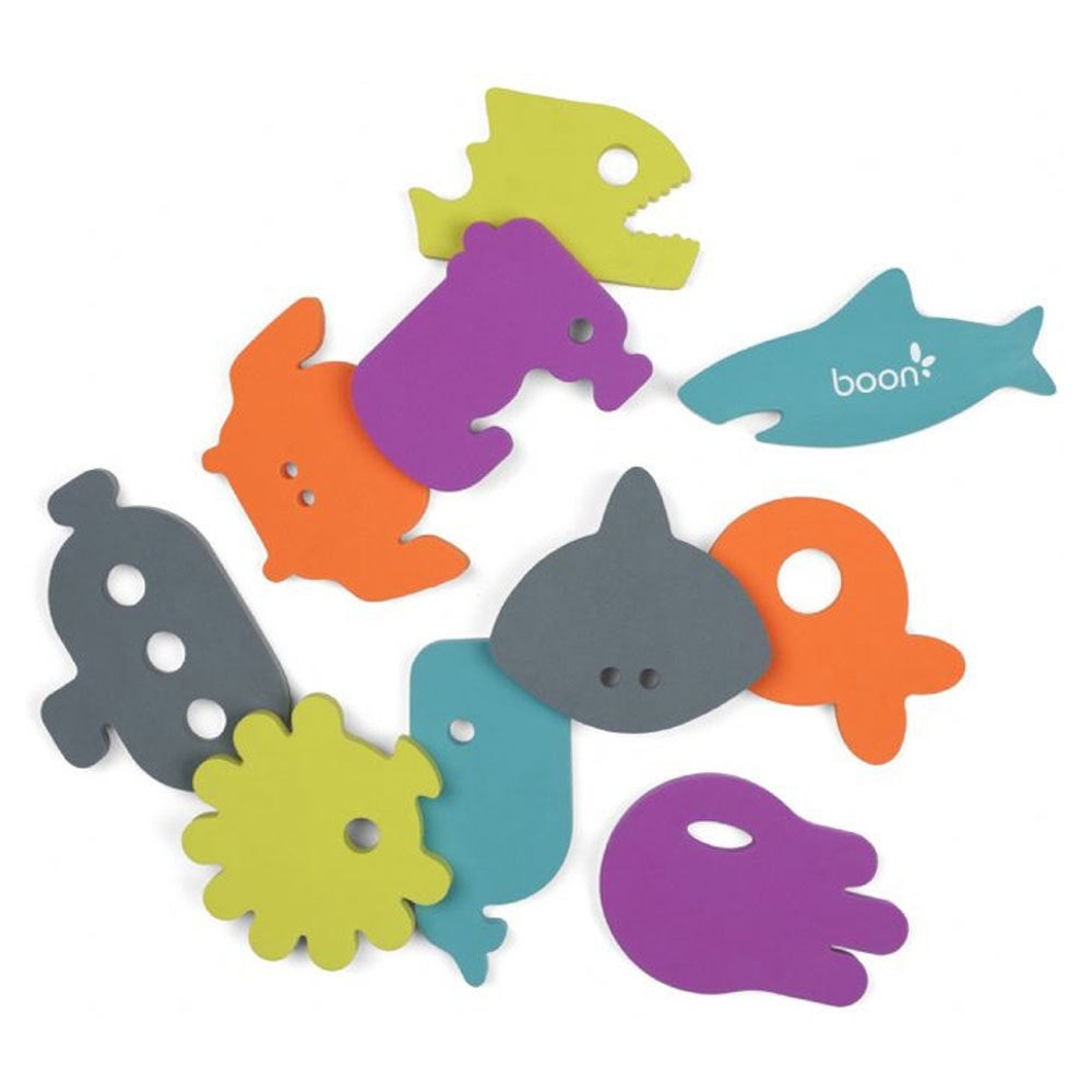 Boon 10pc Dive Bath Tub Appliques Toys Wall Stick/Float for Baby/Kids/Toddlers