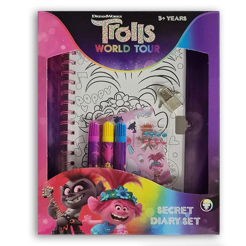 Dreamworks Trolls 2 Lockable Girls Diary Secret Journal w/ Markers/Stickers 3y+