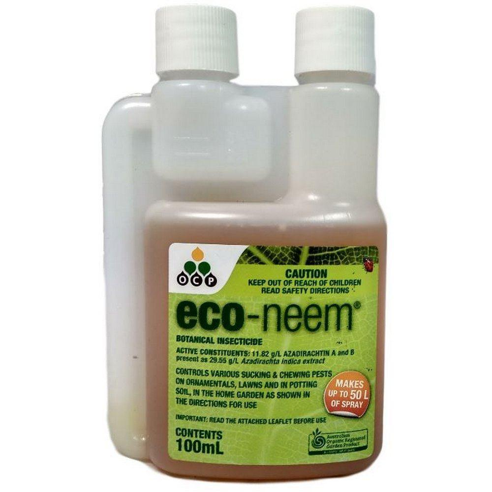 Eco Organic Gardens 100ml Eco-Neem Oil Botanical Insecticide for Chewing Pests