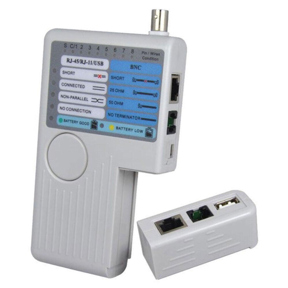 Doss Network Ethernet Cable Continuity Lan Tester CAT5 CAT6 RJ11 RJ45/BNC/USB