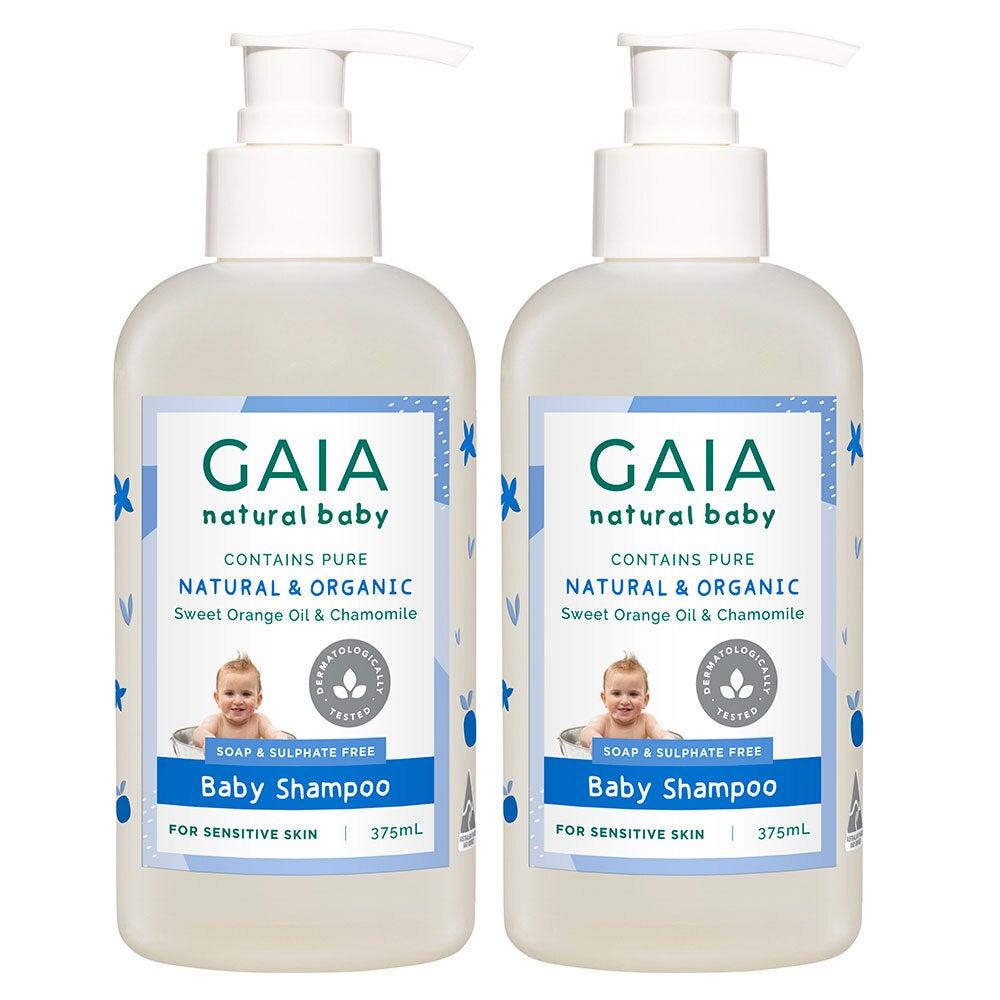 Gaia 750ml Pure/Natural/Organic Shampoo for Baby/Kids/Toddlers Vegan Friendly