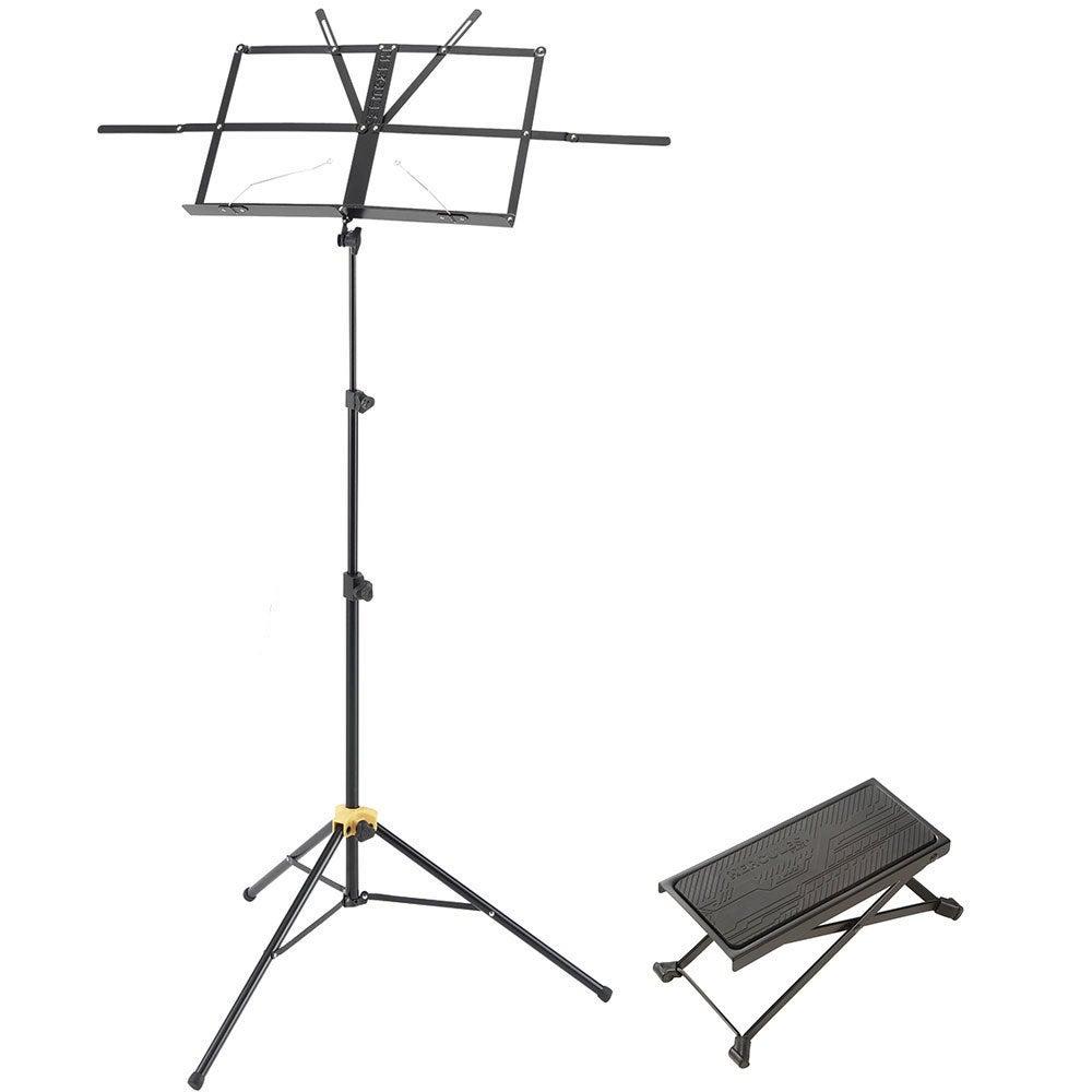Hercules Lightweight Music Sheet Stand w/ Bag/Guitar Foot Stool Adjustable Rest