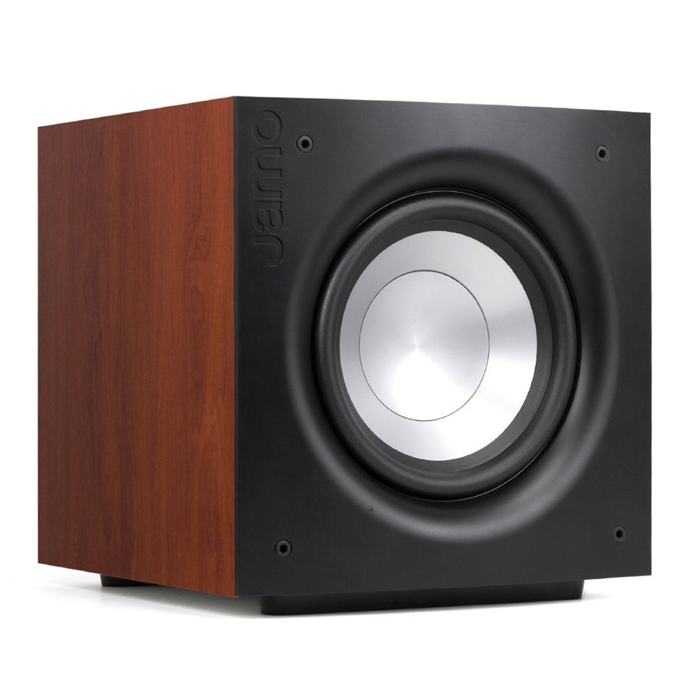 "Jamo J110 SUB 10"" 200W RMS Active Subwoofer Speaker for Home Theatre Dark Apple"