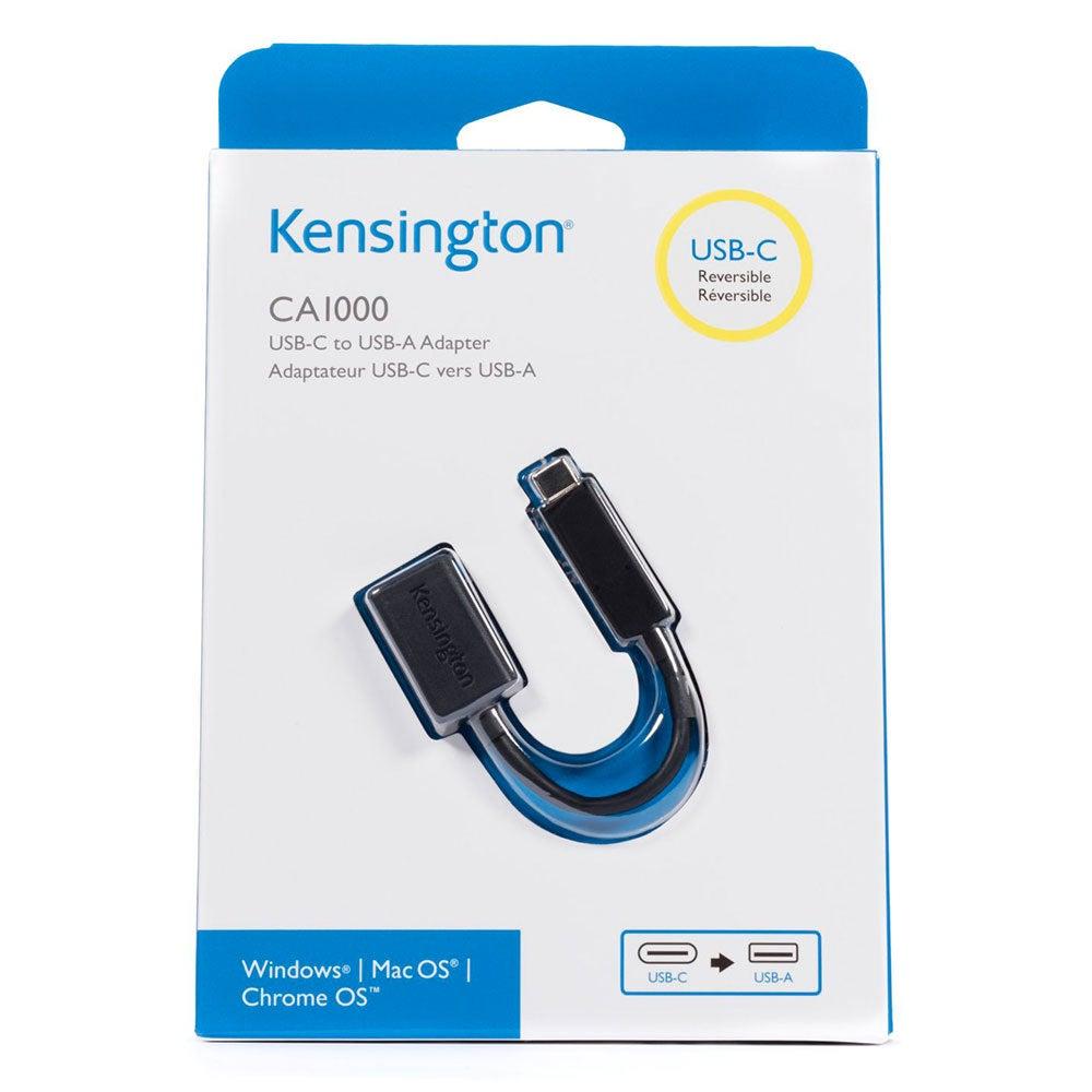 Kensington CA1000 Male USB-C to Female USB-A Adapter/3A for Macbook Chromebook P