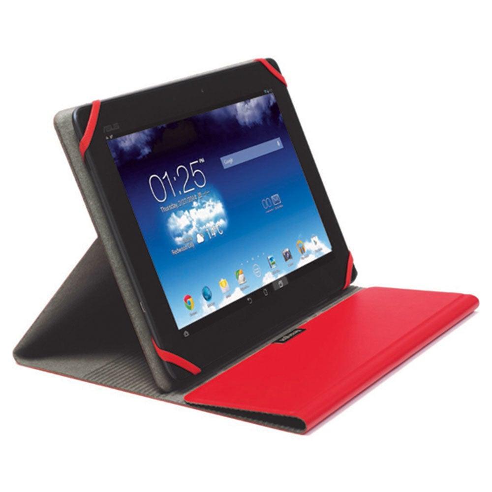 "Kensington Red Comercio Fit Folio/Sleeve Case Protector for 9-10"" Tablets/iPad"