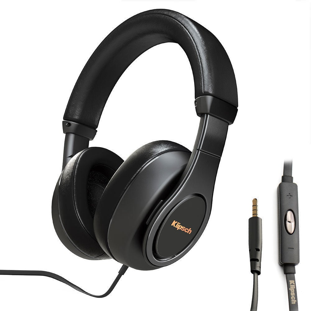 Klipsch Reference Over Ear Headphones/Headset w/Mic for iPhone/iPod/iPad Black