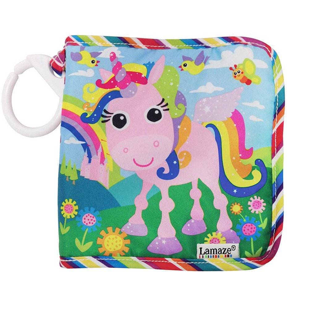 Lamaze Tilly Twinklewings Baby Cloth Book Interactive Touch Feel Toy w/ Clip