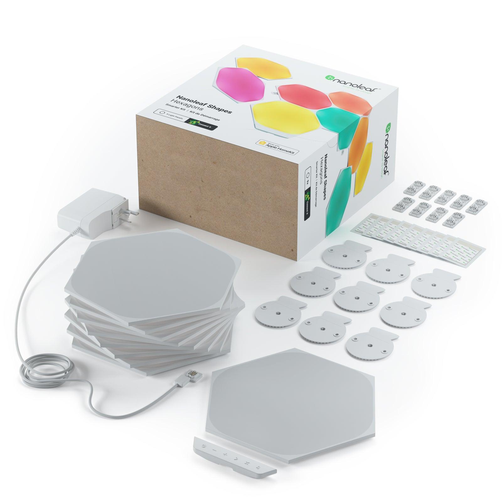 Nanoleaf Shapes Smart Light Hexagon Starter Kit w/9 Panels/Plates/Linkers