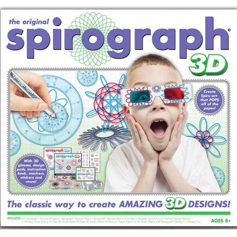Original Spirograph 3D Kit Set W/ 3D Glasses Draw Drawing Kids Art Design Craft