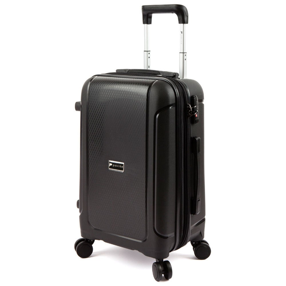 Paklite Twilite Cabin Luggage/Suitcase RFID Blocking Travel Case 56cm Black