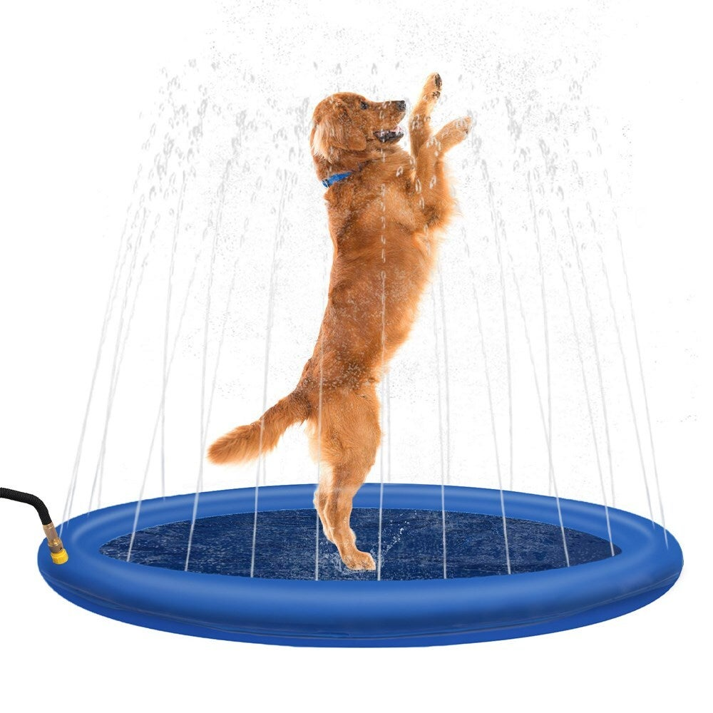 Paws&Claws 100cm Pet Sprinkler Water Splash Pad Dog/Cat Cooling Pond/Outdoor Toy