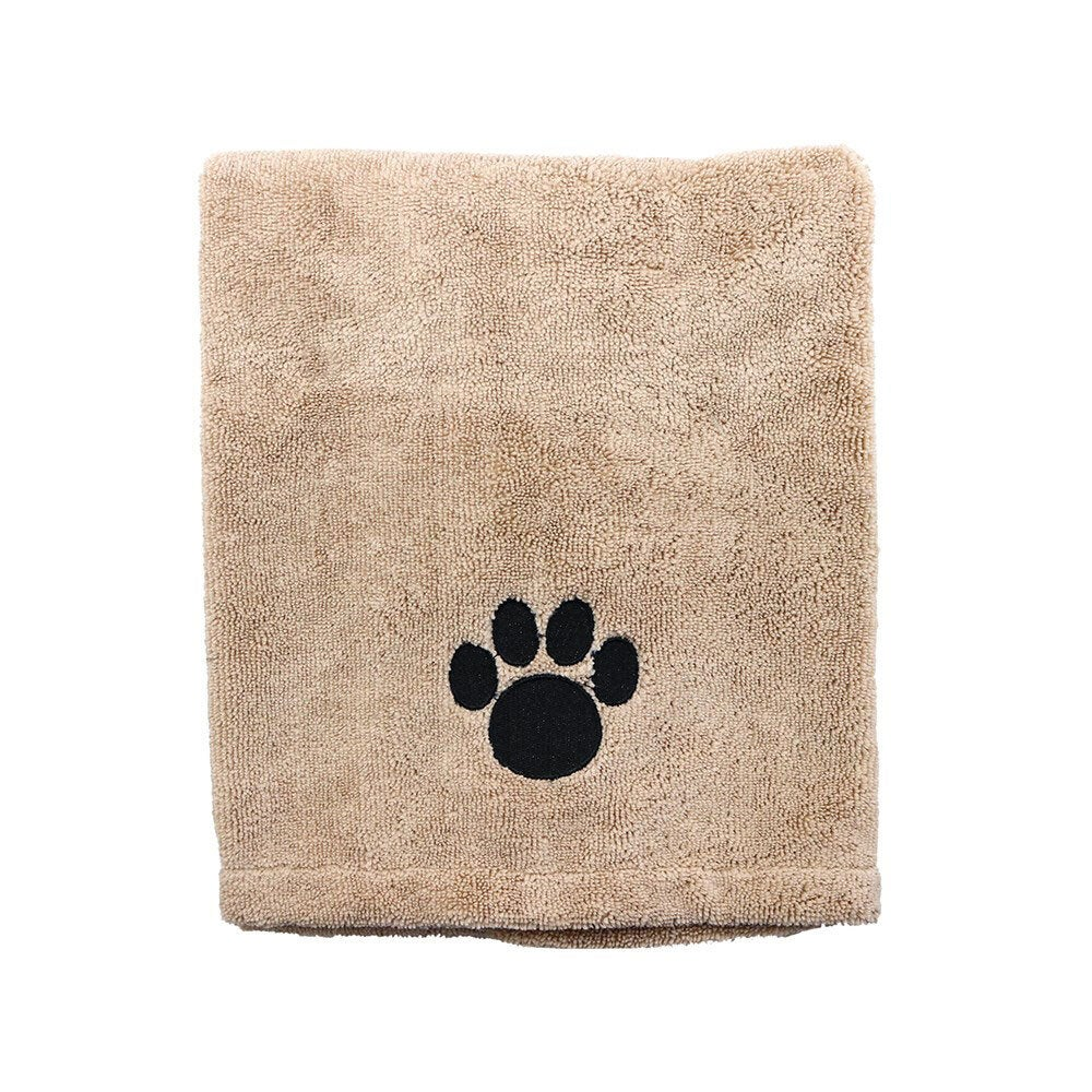 Paws & Claws 60x90cm Microfiber Drying Soft Towel Dogs/Cats/Pets Grooming BRN