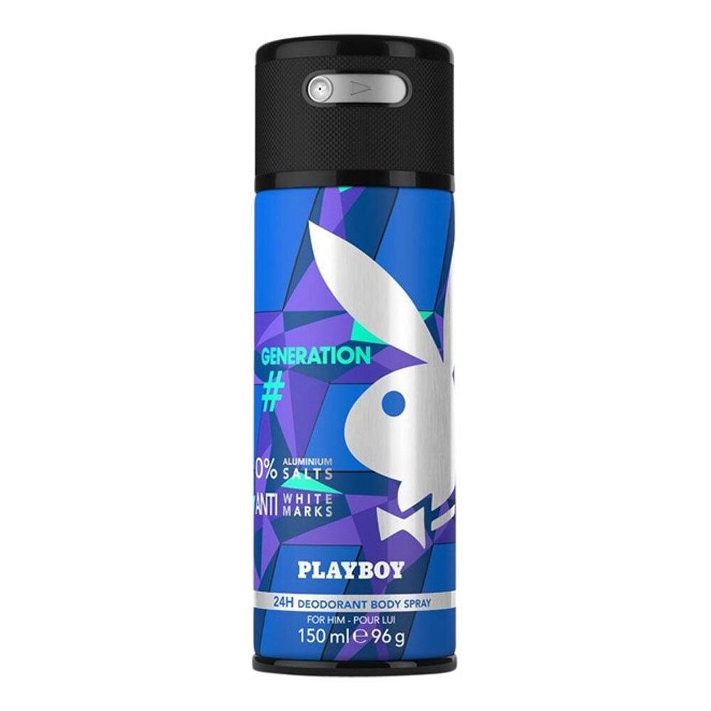 Playboy Generation 150ml Deodarant Spray 24h Body Odor Control for Men/Him