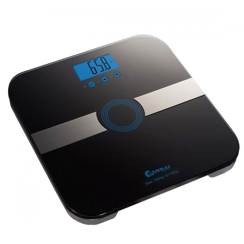Sansai Black Body Analysing BMI Muscle Bathroom Digital Scale/Weight Measure/LCD