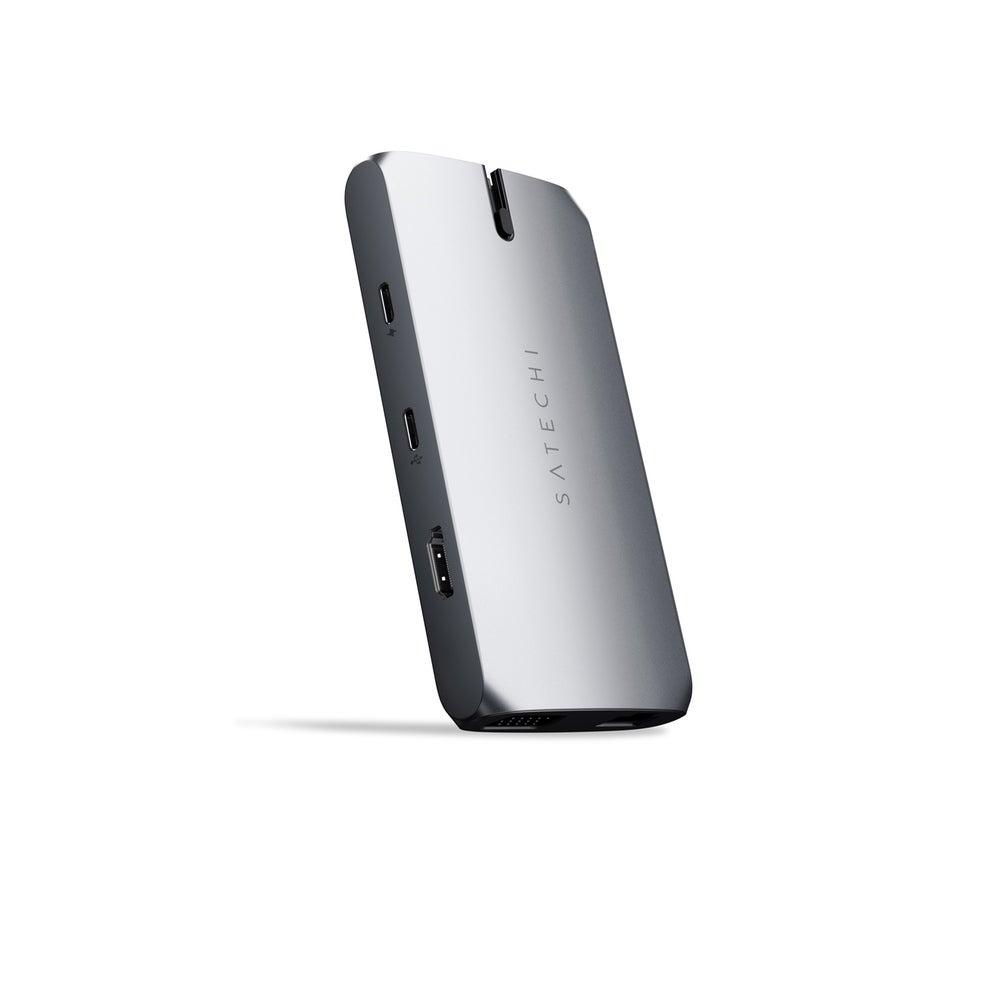 Satechi USB-C On-the-Go Adaptor w/HDMI/USB-C/VGA/Ethernet/USB-A/Micro/SD Slot GY