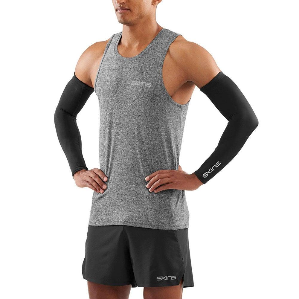 Skins Compression Essentials Primary Unisex Arm Sleeves Sport Activewear Black M