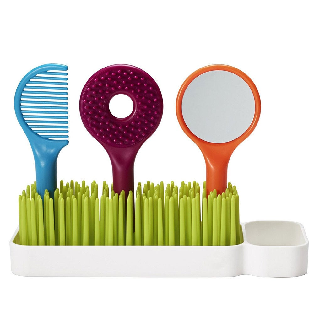 Boon Spiff Baby/Toddler Grooming Kit w/ Brush/Comb/Mirror Caddy Holder Kids Set