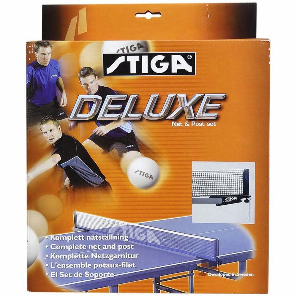 Stiga Deluxe Net & Post w/ Clamp On f/ Table Tennis/Ping Pong Game Table Set